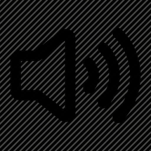 audio, high, sounds, speaker, volume icon