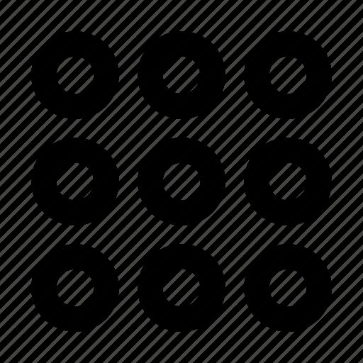 app, dialup, keypad, list, menu, more, numbers, numpad icon