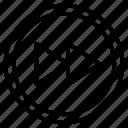 button, forward, next, player, switch icon