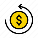 coin, currency, dollar, money, transfer
