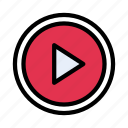 play, video, button, player, mp4 icon