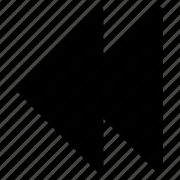 back, chevron, previous icon