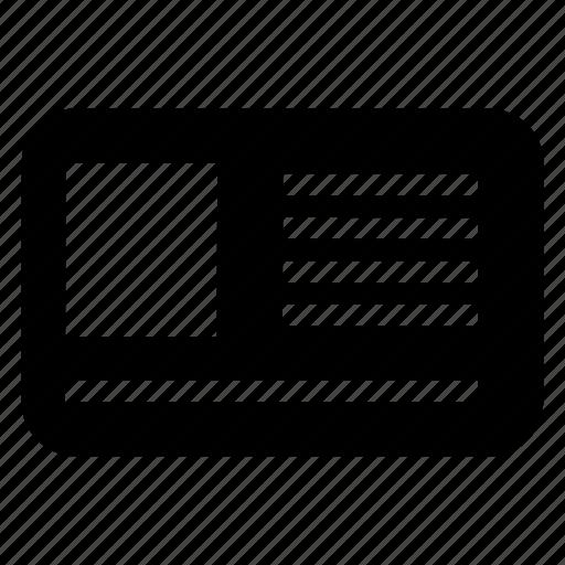 card, id, identity, profile icon
