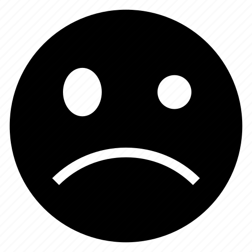 emoticon, face, sad, smiley icon