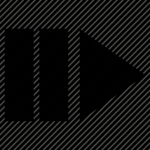 arrow, chevron, forward, next icon