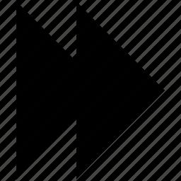 arrow, forward, next icon