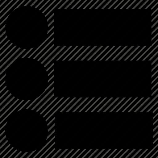 lines, list, menu, option icon