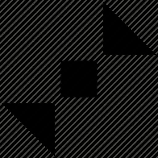 arrow, layout, minimize, reduce icon