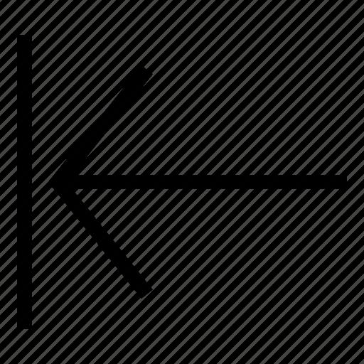 back, direction, left icon