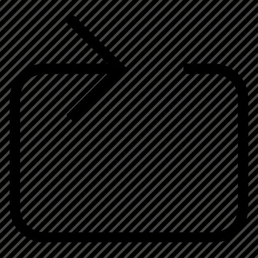 chevron, control icon