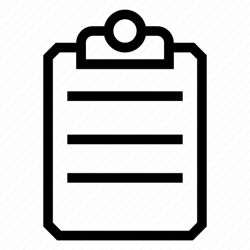 clipboard, list, notes, papers icon
