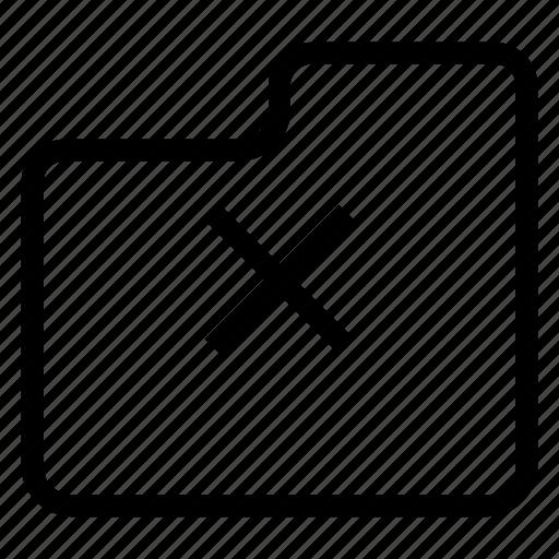 delete, file, folder, remove icon