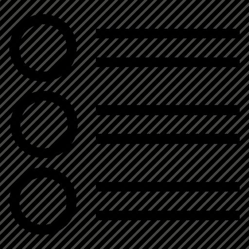 lines, list, menu, options icon