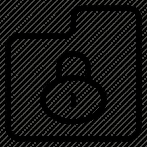 folder, lock, private, secure icon