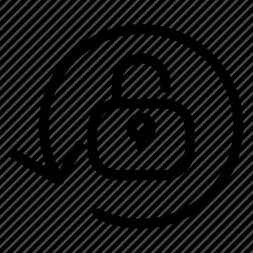 refresh, reload, sync, unlock icon