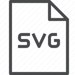 document, extension, file, format, svg, vector icon
