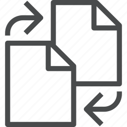 document, documents, file, files, swap, switch icon