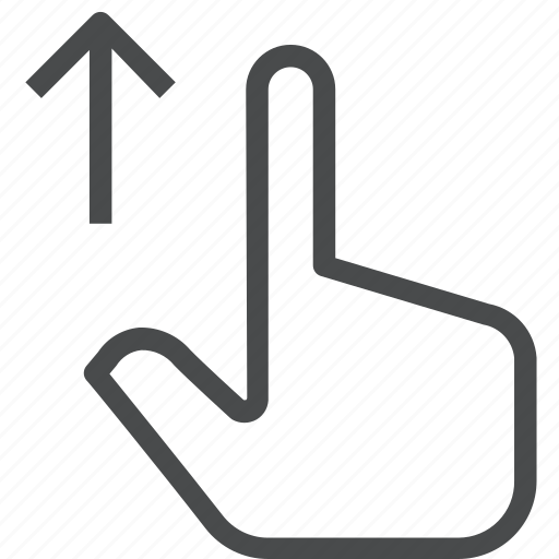 finger, gesture, hand, interaction, swipe, up icon