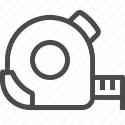 distance, measure, measurement, measuring, scale, tape, tool icon