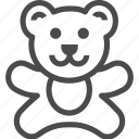 baby, bear, child, kid, teddy, toddler, toy icon
