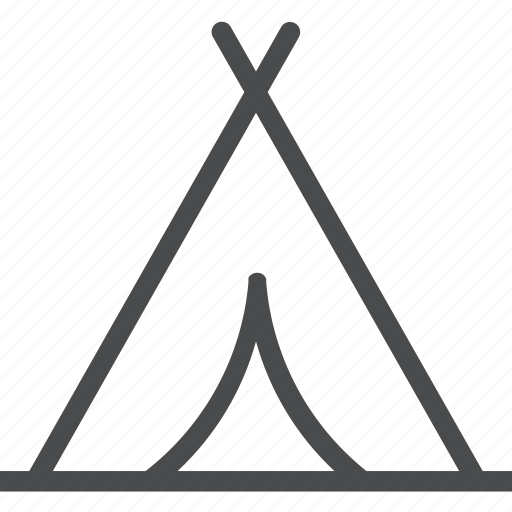 camp, camping, hiking, outdoor, outdoors, teepee, tent icon
