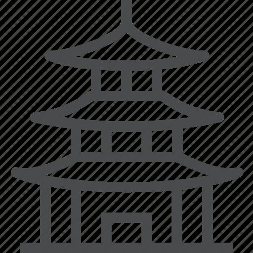 asia, building, china, japan, landmark, pagoda, temple icon