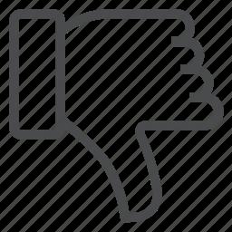 deny, dislike, dont, down, like, no, thumbs icon