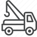 aaa, broke down, lorry, tow, towing, truck, vehicle icon