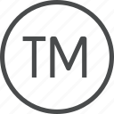 copyright, registered, tm, trademark icon