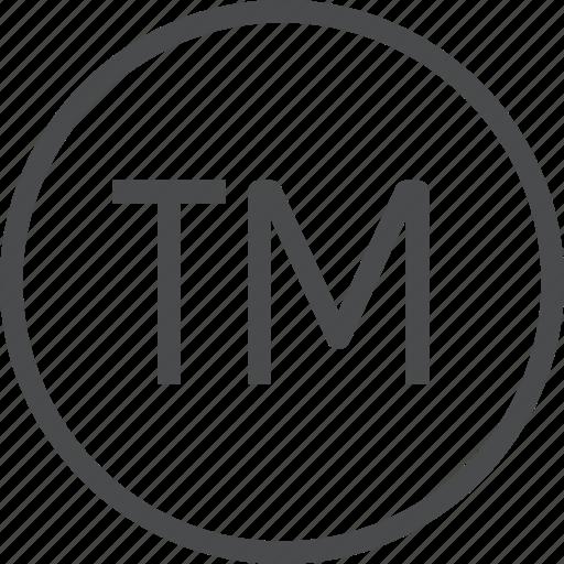copyright, registered, tm, trademark icon