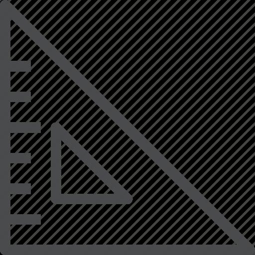 design, geometry, graphic, measure, ruler, scale, triangle icon