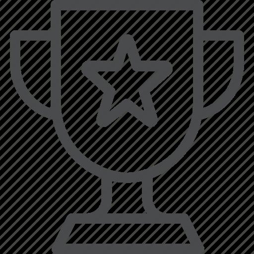 achievement, award, badge, prize, success, trophy, win icon