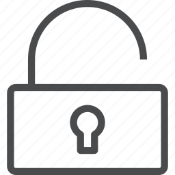 access, lock, open, padlock, secure, unlock icon