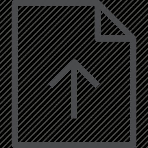arrow, document, file, import, up, upload icon