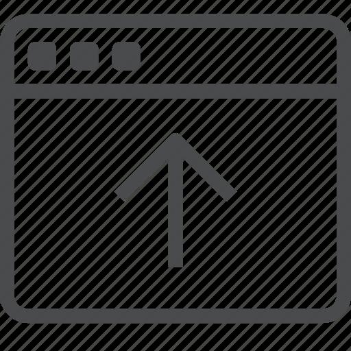 arrow, up, webpage icon