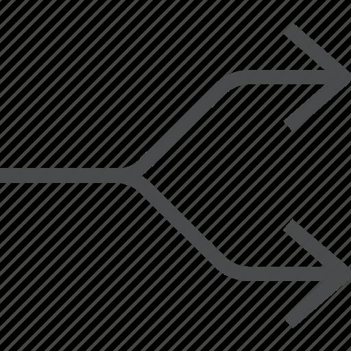 arrows, divide, divider, seperate, split icon