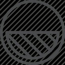 circle, contrast, graph, shadows icon