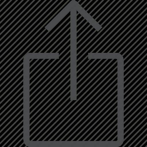 arrow, share, shift, up, upload icon
