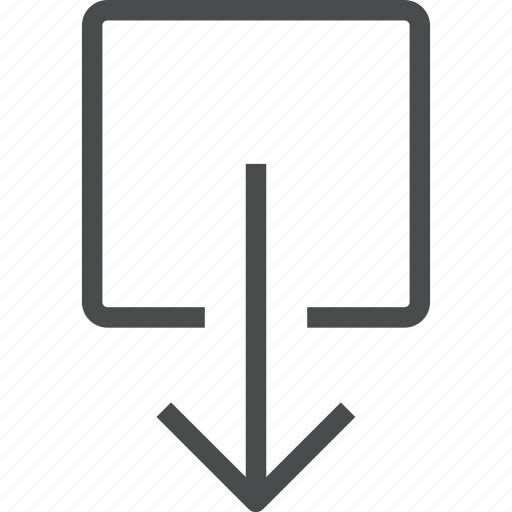 arrow, direction, down, download, navigation, shift icon