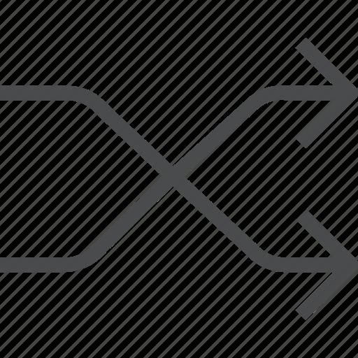 arrows, mix, shuffle, swap icon
