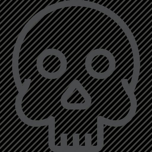 death, halloween, horror, scary, skeleton, skull, spooky icon