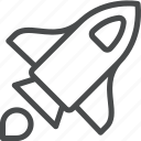 launch, rocket, rocketship, shuttle, space, spaceship, startup icon