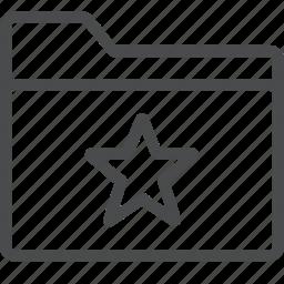 archive, category, favorite, folder, star icon