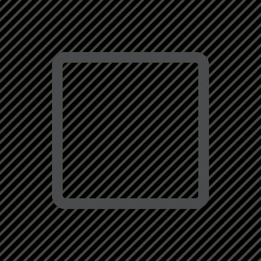 audio, controls, media, square, stop icon
