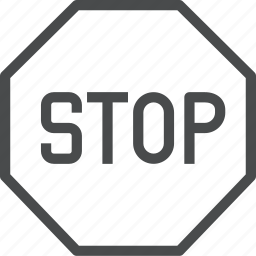 direction, sign, stop, symbol icon