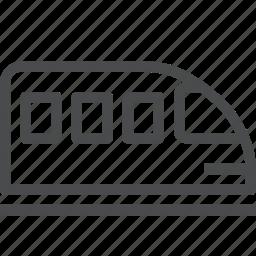 metro, monorail, railroad, railway, subway, train, transportation icon