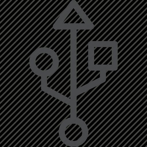 connector, data, network, server, usb icon