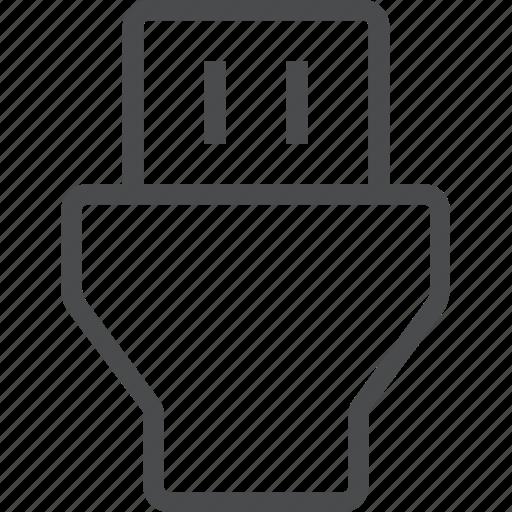 data, drive, flash, plug, usb icon
