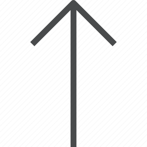 arrow, direction, navigation, up icon