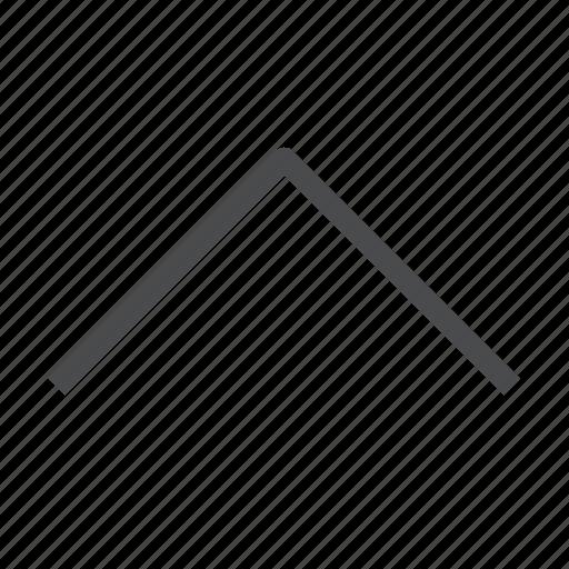 arrow, chevron, navigation, up icon